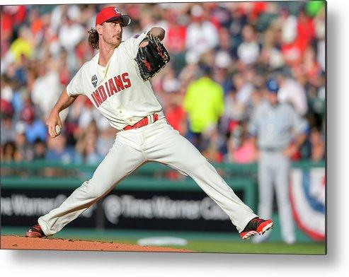 American League Baseball Metal Print featuring the photograph Josh Tomlin by Jason Miller
