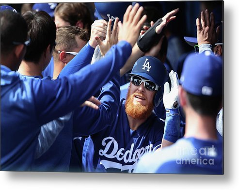 People Metal Print featuring the photograph Justin Turner by Christian Petersen