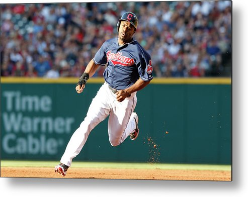 Michael Bourn Metal Print featuring the photograph Michael Bourn by David Maxwell