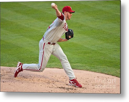People Metal Print featuring the photograph Roy Halladay by Ronald C. Modra
