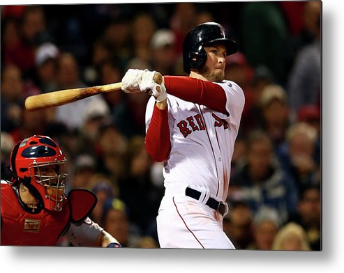 Playoffs Metal Print featuring the photograph Stephen Drew by Elsa
