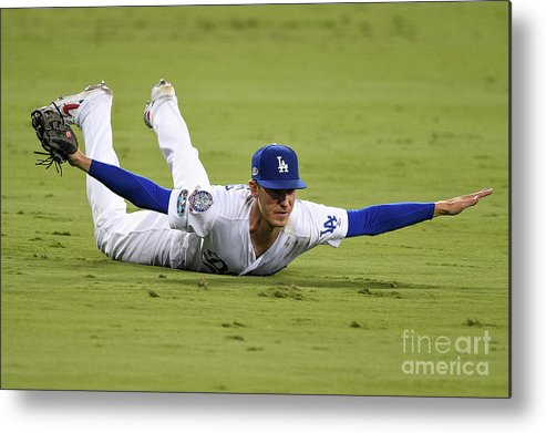 People Metal Print featuring the photograph Cody Bellinger by Kevork Djansezian
