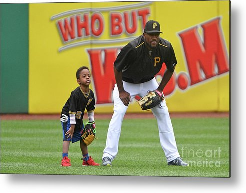 People Metal Print featuring the photograph Starling Marte by Justin Berl