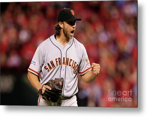 Celebration Metal Print featuring the photograph Madison Bumgarner by Jamie Squire
