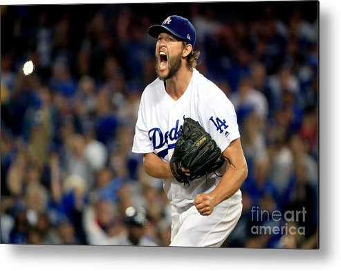 Game Two Metal Print featuring the photograph Clayton Kershaw by Sean M. Haffey