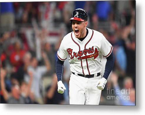 Atlanta Metal Print featuring the photograph Freddie Freeman by Scott Cunningham