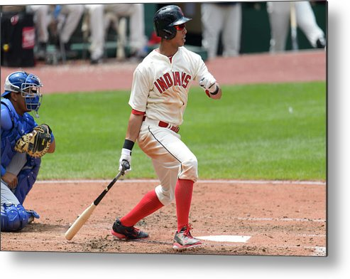 American League Baseball Metal Print featuring the photograph Michael Brantley by Jason Miller