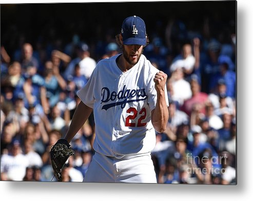 Jesús Aguilar Metal Print featuring the photograph Clayton Kershaw by Kevork Djansezian