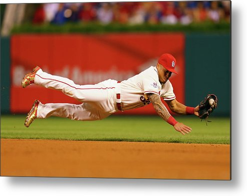 St. Louis Cardinals Metal Print featuring the photograph Kolten Wong by Dilip Vishwanat