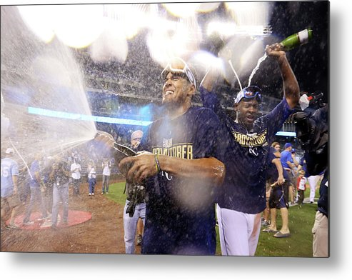 Playoffs Metal Print featuring the photograph Lorenzo Cain by Ed Zurga