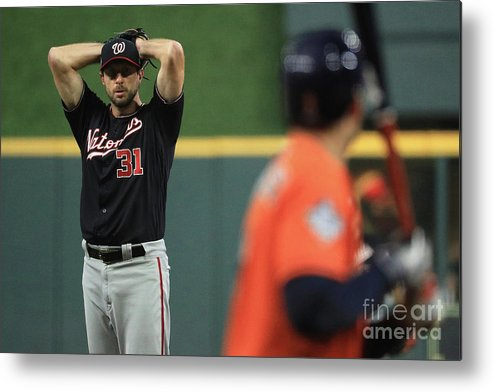 People Metal Print featuring the photograph Max Scherzer by Mike Ehrmann