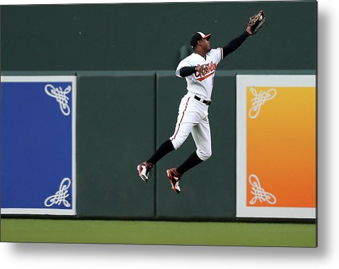 Second Inning Metal Print featuring the photograph Adam Jones by Patrick Smith