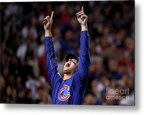 People Metal Print featuring the photograph Anthony Rizzo And Miguel Montero by Ezra Shaw