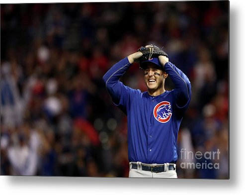 Three Quarter Length Metal Print featuring the photograph Anthony Rizzo by Elsa