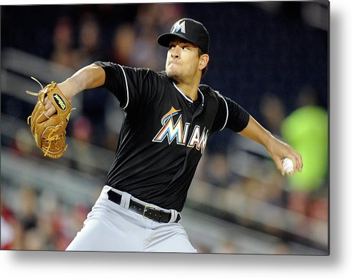 Second Inning Metal Print featuring the photograph Brad Hand by Greg Fiume