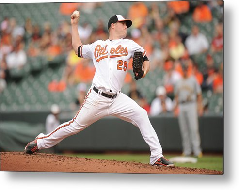 Second Inning Metal Print featuring the photograph Bud Norris by Mitchell Layton