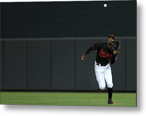 People Metal Print featuring the photograph Carlos Beltran And Adam Jones by Patrick Smith