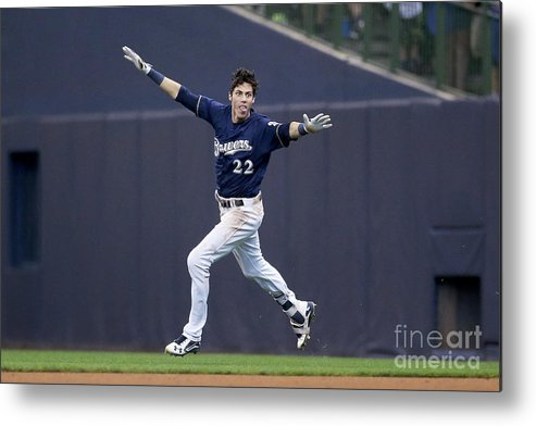 People Metal Print featuring the photograph Christian Yelich by Dylan Buell
