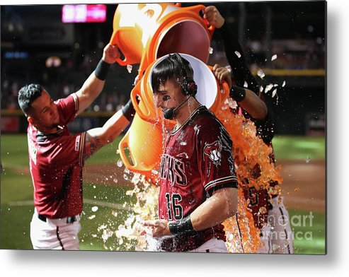 People Metal Print featuring the photograph David Peralta And Eduardo Escobar by Christian Petersen
