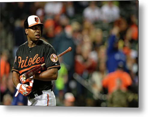 American League Baseball Metal Print featuring the photograph Delmon Young by Patrick Smith
