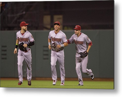 San Francisco Metal Print featuring the photograph Ender Inciarte And David Peralta by Jason O. Watson