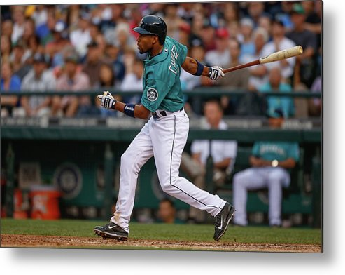 American League Baseball Metal Print featuring the photograph Endy Chavez by Otto Greule Jr