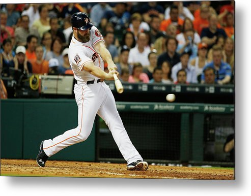 Evan Gattis Metal Print featuring the photograph Evan Gattis by Scott Halleran