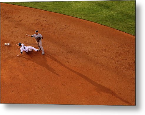 Double Play Metal Print featuring the photograph Everth Cabrera And Dj Lemahieu by Justin Edmonds