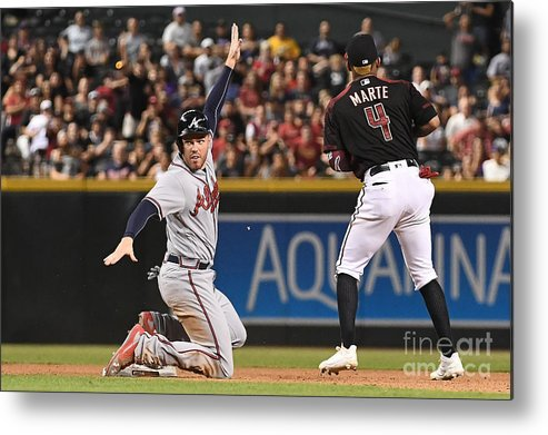 People Metal Print featuring the photograph Freddie Freeman by Jennifer Stewart
