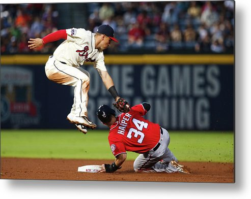 Atlanta Metal Print featuring the photograph Jace Peterson And Bryce Harper by Kevin Liles