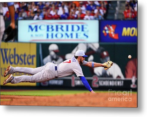 People Metal Print featuring the photograph Jack Flaherty And Kris Bryant by Jeff Curry