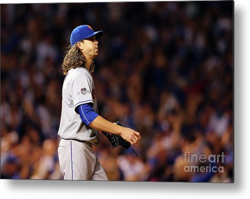 Jacob Degrom Metal Print featuring the photograph Jacob Degrom And Jorge Soler by Elsa