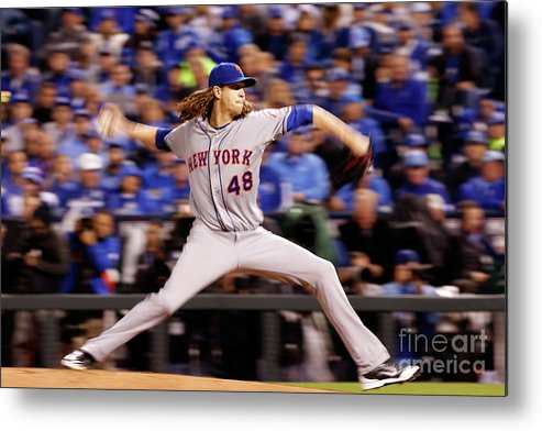 Jacob Degrom Metal Print featuring the photograph Jacob Degrom by Christian Petersen