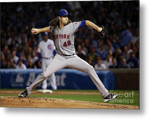 Jacob Degrom Metal Print featuring the photograph Jacob Degrom by Jonathan Daniel
