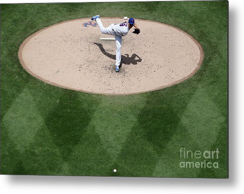 Jacob Degrom Metal Print featuring the photograph Jacob Degrom by Michael Owens