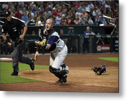 People Metal Print featuring the photograph Jarrod Saltalamacchia by Norm Hall