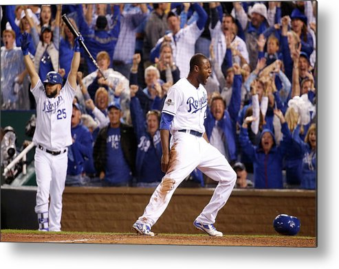 People Metal Print featuring the photograph Lorenzo Cain by Rob Carr