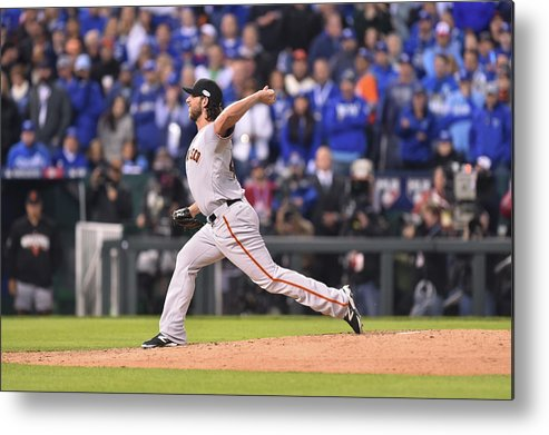 Playoffs Metal Print featuring the photograph Madison Bumgarner by Rob Tringali