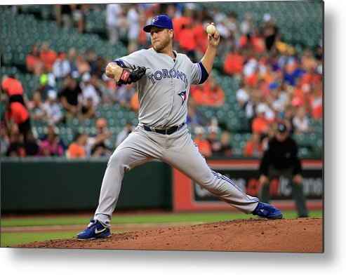 American League Baseball Metal Print featuring the photograph Mark Buehrle by Rob Carr