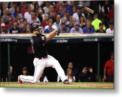 People Metal Print featuring the photograph Mike Napoli by Ezra Shaw