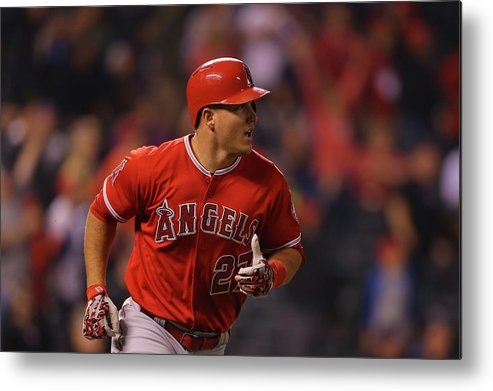 People Metal Print featuring the photograph Mike Trout by Justin Edmonds