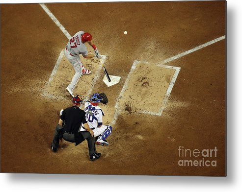 People Metal Print featuring the photograph Mike Trout by Win Mcnamee
