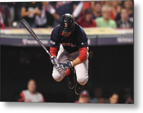People Metal Print featuring the photograph Mookie Betts by Jason Miller