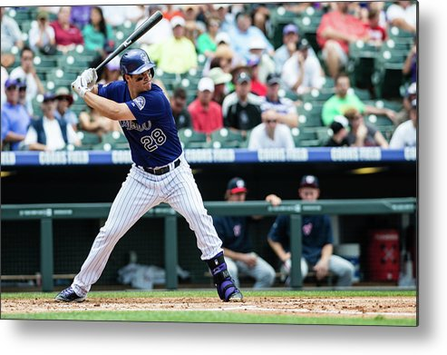 Motion Metal Print featuring the photograph Nolan Arenado by Peter Lockley