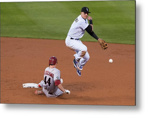 Double Play Metal Print featuring the photograph Paul Goldschmidt And Troy Tulowitzki by Dustin Bradford