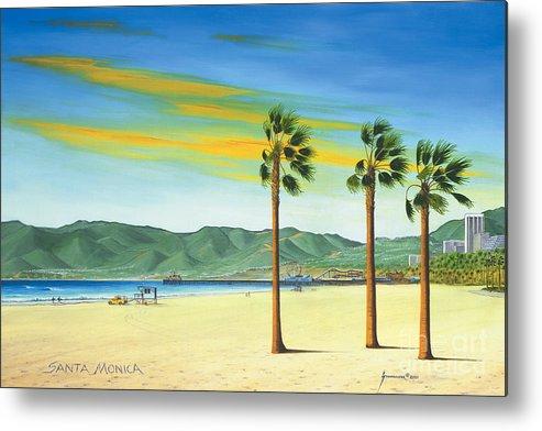 Santa Monica Metal Print featuring the painting Santa Monica by Jerome Stumphauzer