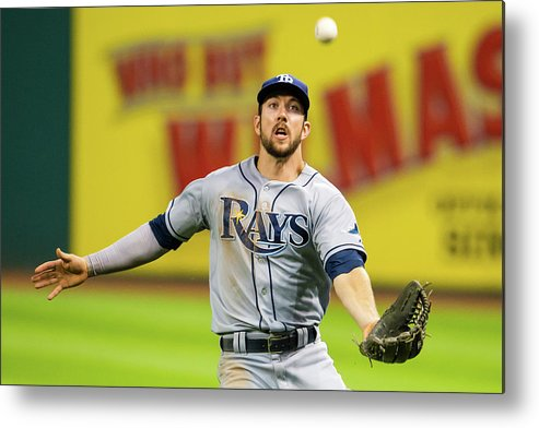 Three Quarter Length Metal Print featuring the photograph Steven Souza And Francisco Lindor by Jason Miller