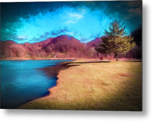 Landscape Metal Print featuring the photograph Strolling By The Blue by Jim Love