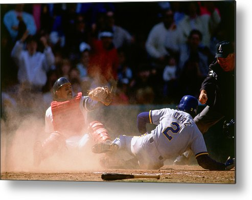 American League Baseball Metal Print featuring the photograph Tony Pena by Ronald C. Modra/sports Imagery