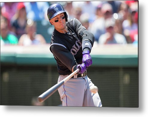 American League Baseball Metal Print featuring the photograph Troy Tulowitzki by Jason Miller